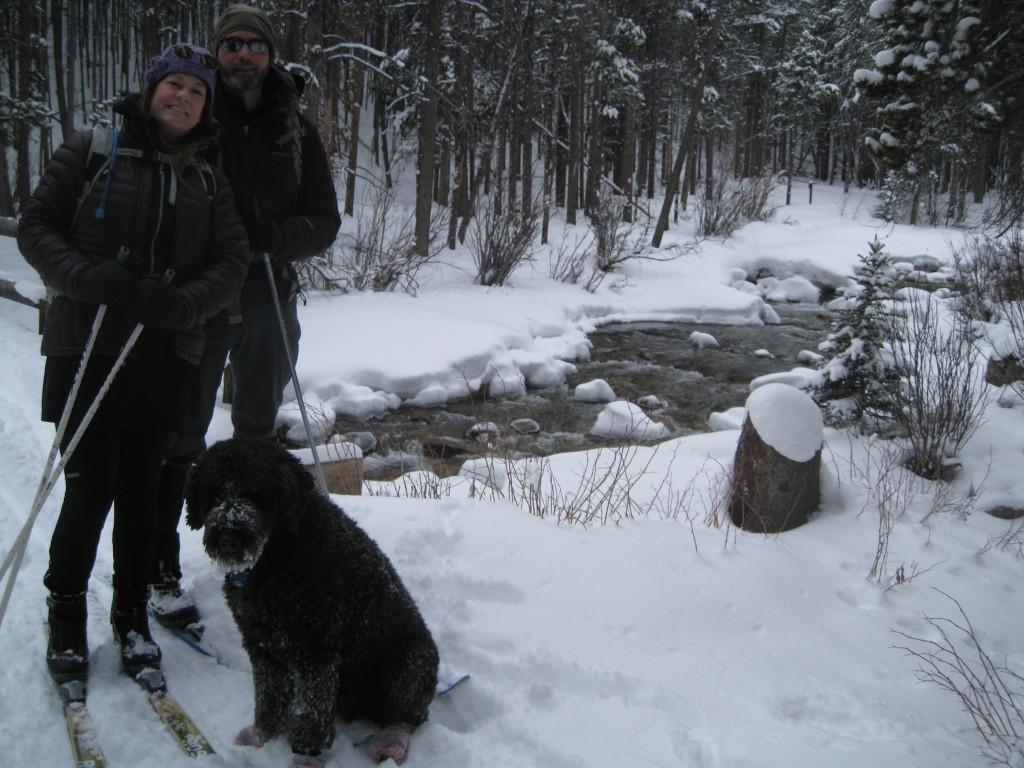 Your Innkeepers Barbra, Scott & lodge dog Jaden.