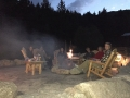 Guests gather around our Fire Pit