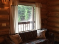 Sitting area at Haywood Cabin